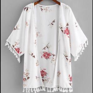 Tops - Boho Floral Kimono